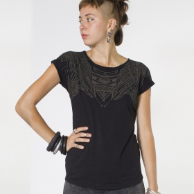 "Top T-shirt PlazmaLab ""Yanshu\"", Noir"