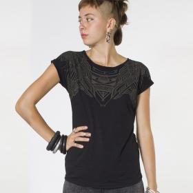 "Top T-shirt PlazmaLab \""Yanshu\"", Noir"