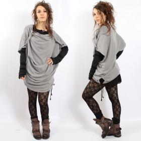 """Top witch \\\""""mandlu\\\"""", taille unique couleur gris clair"""
