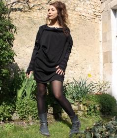 """Top witch \\\""""mandlu\\\"""", taille unique couleur noir"""