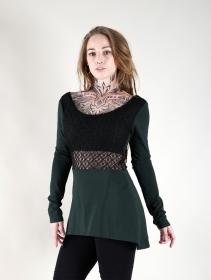 "Tunique patineuse avec crochet \""Nymphea\"", Vert canard"
