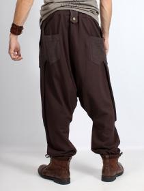 """Unisexe - Pantalon sarouel \""""Ifarit\"""", Marron"""