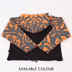 "Veste capuche ronde GadoGado \""Ariinui\"", Orange noir"