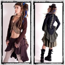 "Veste fairy floss \\\""steampunk\\\"", marron"