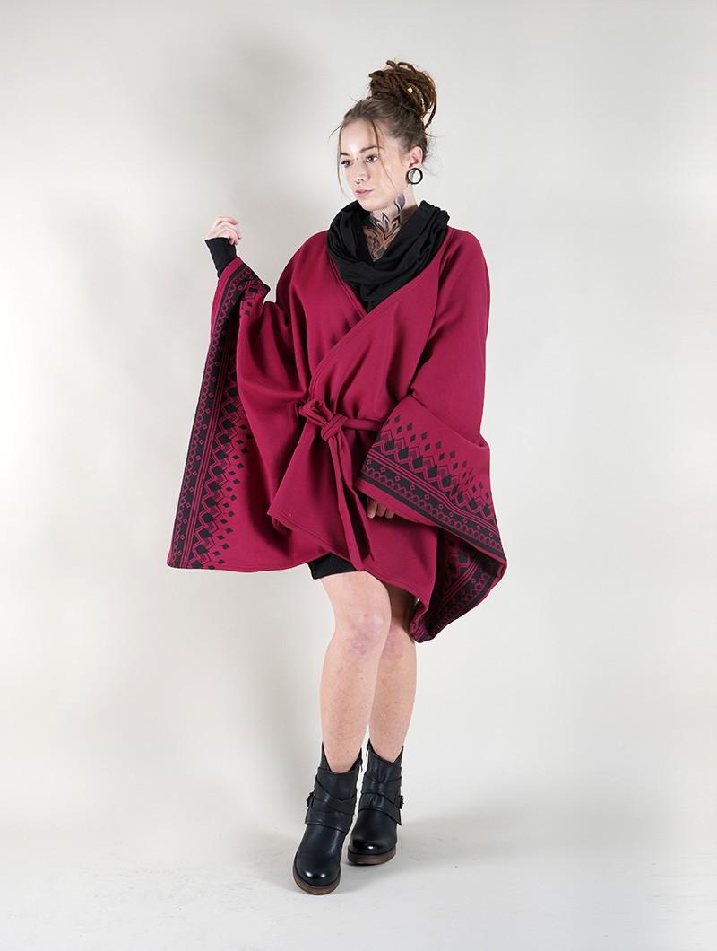 """Veste longue kimono \""""Melian\"""", Bordeaux"""