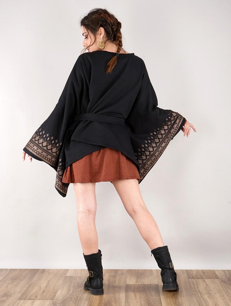"""Veste longue kimono \""""Melian\"""", Noir"""