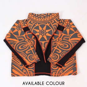 "Veste lutin ""Skywalker Haida\"", Orange et noir"