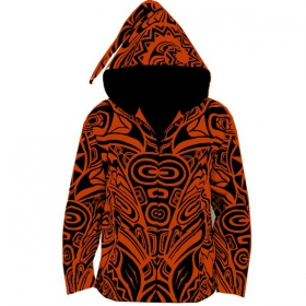 Veste lutin gadogado, orange-noir