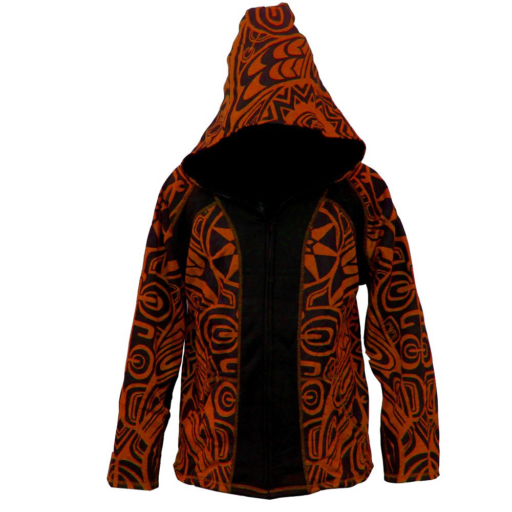 "Veste lutin gadogado \""skywalker\\\"", orange-noir"