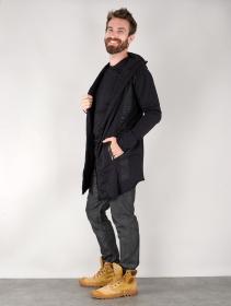 """Veste manches longues à capuche unisexe \""""Umma Gumma\"""", Noir"""