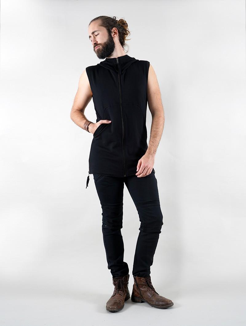 """Veste sans manche à capuche \""""Anuket\"""", Noir"""